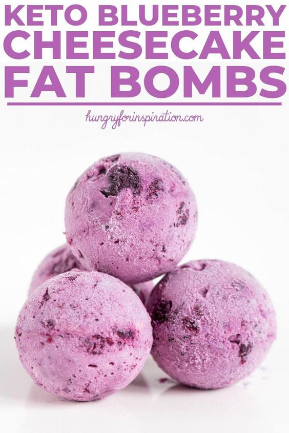 Keto Blueberry Cheesecake Fat Bombs